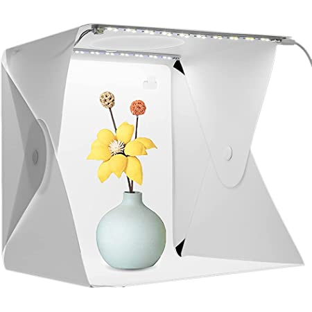 撮影ボックス 20cm SANWA 撮影ブース 写真撮影キット ミニ撮影ボックス 40PCS LEDライト付き マルチアングル撮影 USB電源 背景スクリーン2色付き (白/黒)折り畳み式 軽便携帯型 組み立て簡単 日本語説明書付き