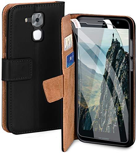 MoEx Set di Protection a 360 Gradi Premium per Huawei Nova Plus | Tutela telefonica Totale [Sacchetto + Foglio] Protezione su Entrambi i Lati, Nero