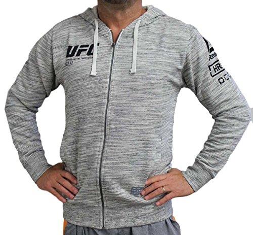 Reebok UFC Fan Gear Full Zip Hoodie, Chalk, Medium