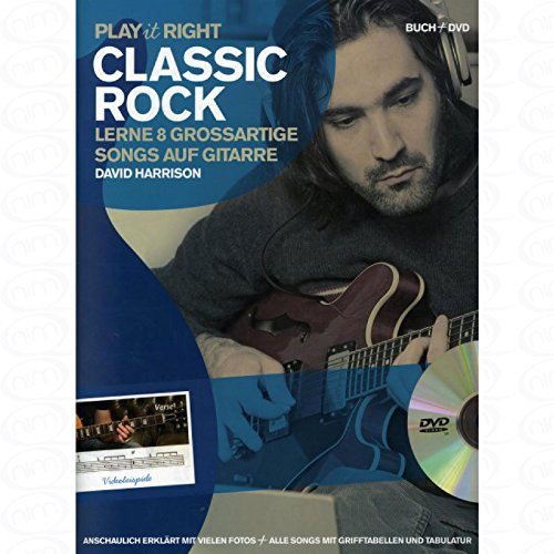 Classic Rock–Arreglados para Acordes de guitarra––con DVD [de la fragancia/Alemán] Compositor: Harrison David de la serie: Play It Right