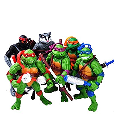 City hero Turtles 6 PCS Set New - Mutant Ninja Action - TMNT Action Figures - Turtles Toy Set - Ninja Turtles Action Figures Mutant Teenage Set