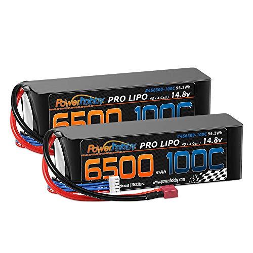 Powerhobby 4S 6500mAh 14.8V 100C/200C LiPo Battery w Deans Plug for Traxxas X-Maxx 8S