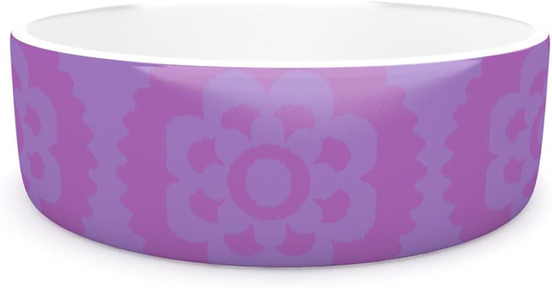 Kess InHouse Nicole Ketchum Mgoldccan purplec  Pet Bowl, 7Inch