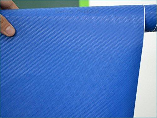 3D Carbon Fibre Textured Car Wrapping Vinyl Gadget Various Colours 30CMx 1.52M (BLUE)