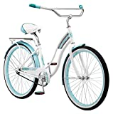 Kulana Lakona Wave Adult Beach Cruiser Bike, 26-Inch Wheels, Single Speed, White (R7122AZ)