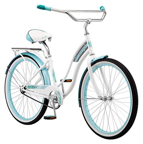 Kulana Lakona Wave Adult Beach Cruiser Bike, 26-Inch Wheels, Single Speed, White (R7122AZ)