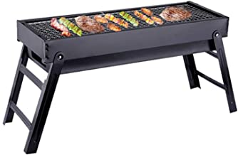 Portable Folding Charcoal Barbecue Stainless Steel BBQ Grill Smoker Grill for Outdoor Cooking Camping Picnic Outdoor Garden