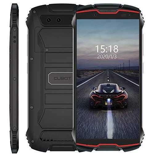 Cubot Kingkong Mini 4G Outdoor Smartphone ohne Vertrag, 4 Zoll Display Dual SIM Handy Wasserdicht, Stoßfest und Staubdicht, 3GB+32GB, Android 9, GPS+Kompass, 8MP Frontkamera/13MP Hauptkamera (Rot)