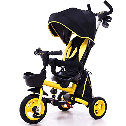 Sale!! Zjnhl Children's Fun/Children Tricycle First Bike Stroller 3 In1 Foldable WiRemovable Push Ha...