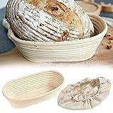 CAETNY Formas ovais Fermentação Cesta de Rattan Cesta de Massa de Pão Cesta de Massa de Pão Cesta de Massa de Pão