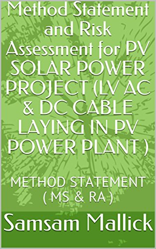 Method Statement and Risk Assessment for PV SOLAR POWER PROJECT (LV AC...