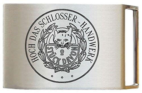 Gravurmanufaktur Gürtelschnalle für Arbeitsgürtel Schlosser Stück Davon Handwerkzunft - ohne Gürtel