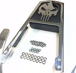 HONGK- Skull Zombie Emblem Backrest Sissy Bar Leather Pad Compatible with 1995-2003 Harley Davidson Sportster 883 XL883 1200 XL1200 [B01C0SR0V6]