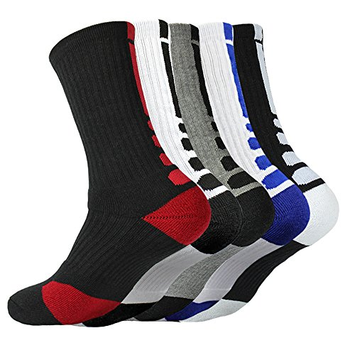 Belisy Women Mens Athletic Socks Professional Antibacterial Tube Sports Socks for Cycling and Running