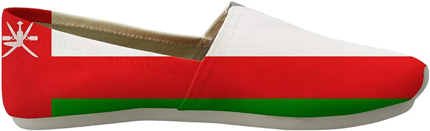 Classic Canvas SlipOn Lightweight Driving shoes Soft Penny Loafers Men Women Oman Flag