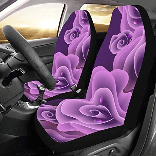 Vivid Deep Purple Flower Rose New Fit Auto Drive Fundas asiento coche