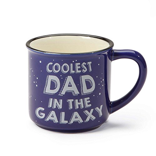 """Our Name is Mud """"Coolest Dad"""" Space Stoneware Camping Coffee Mug, 16 oz."""