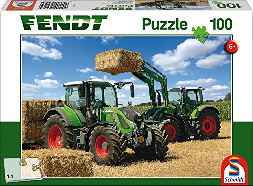 Schmidt 56256 Puzzle: 100 Tractor Cargo Front Loader Jigsaw, Various