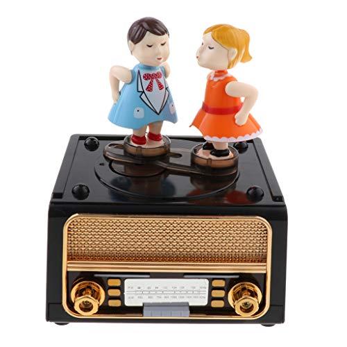 Homyl Boîte à Musique Souvenir Vintage Cadeau Créatif - Radio