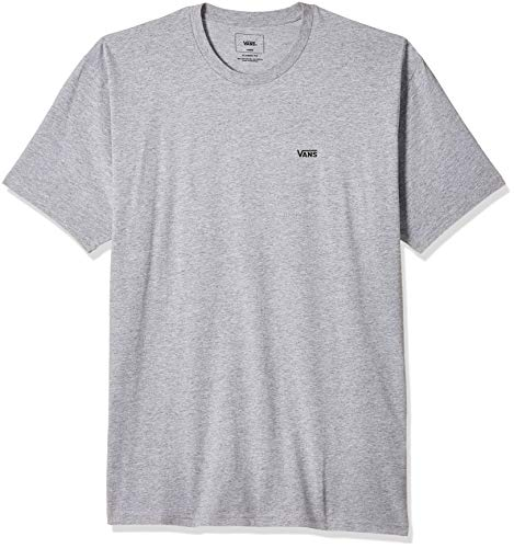 Vans Herren Left Chest Logo Tee T - Shirt, Grau (Athletic Heather), Large (103 - 112 cm)