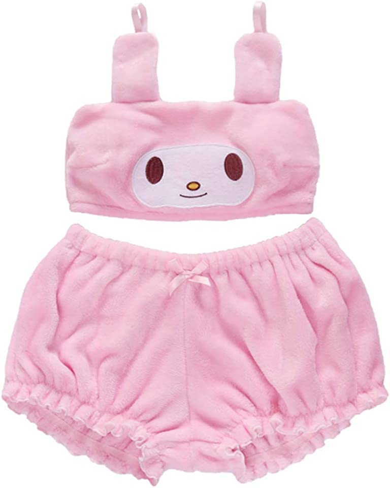Grils Cinnamoroll Anime Costumes Long Ear Doggy Bra and Bloomers Melody Kuromi Pajamas