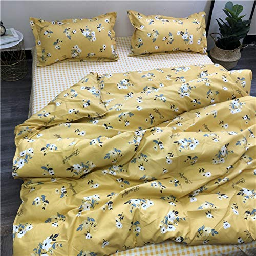 TIANENG Cartoons Bedding Set Cute Style Printing Set Of 4 Piece Simple Easy Care Polyester Duvet Cover Sets