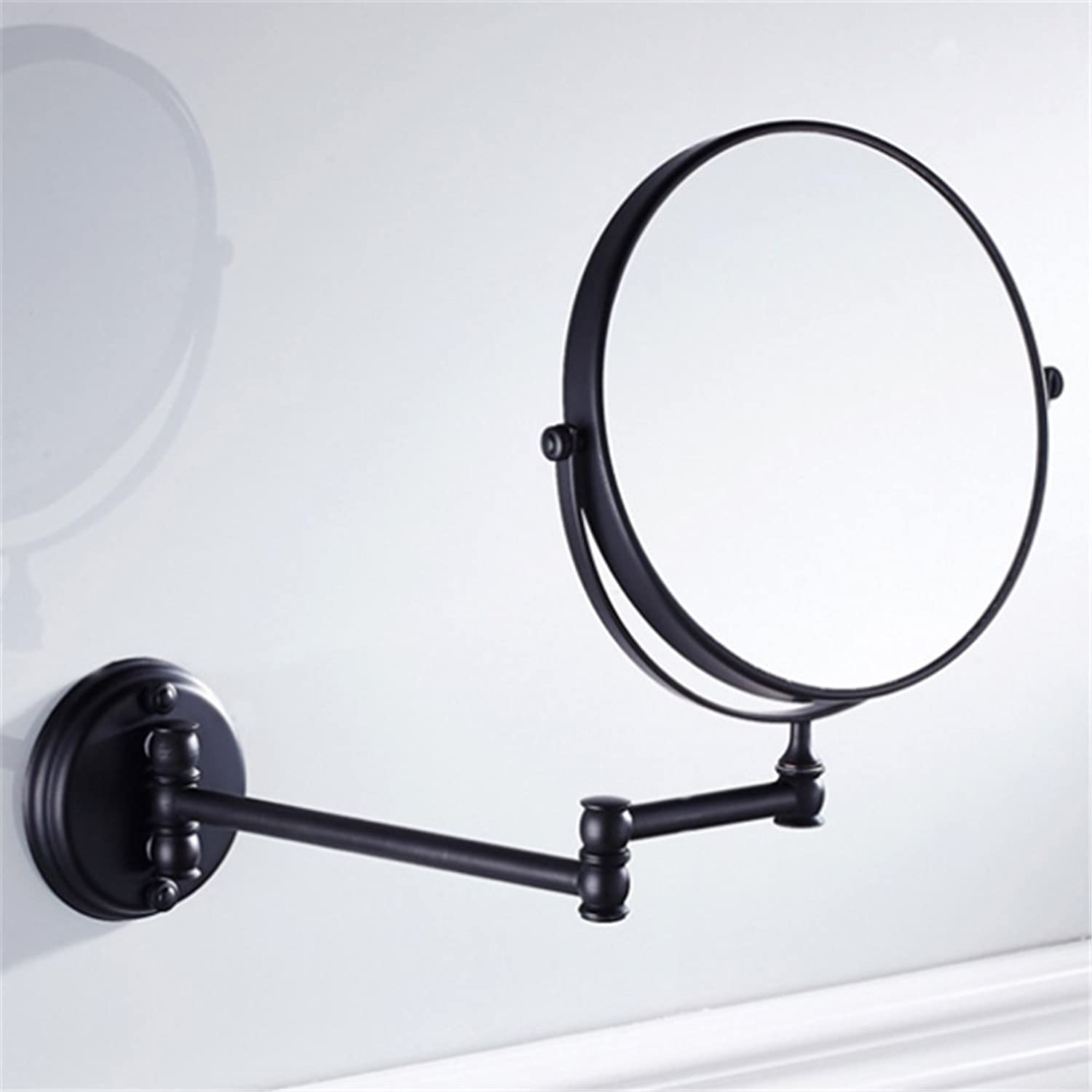 Wall Mounted Makeup Mirror Double Sided With 3X Magnification,No light,Old Rubbed Bronze