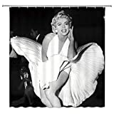 SRJ2018 Sexy Marilyn Monroe Duschvorhang, wasserdicht, Polyester, 183 x 183 cm