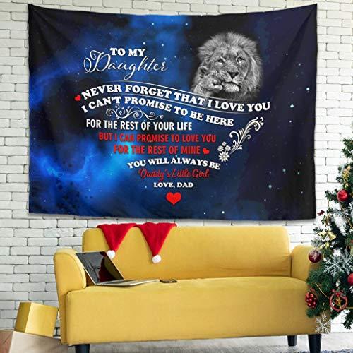 Ballbollbll Lion Baby To My Daughter Tapiz colorido para colgar en la pared para dormitorio, sala de estar, color blanco, 150 x 129 cm