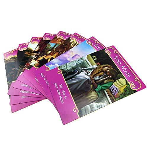 Cartes de Tarot d'ange Romantique 44 Ange Mignon Cartes inhabituelles, cartomancie/amélioration émotionnel/Spirituel, mystérieux Cartes Oracle d'ange Romantique