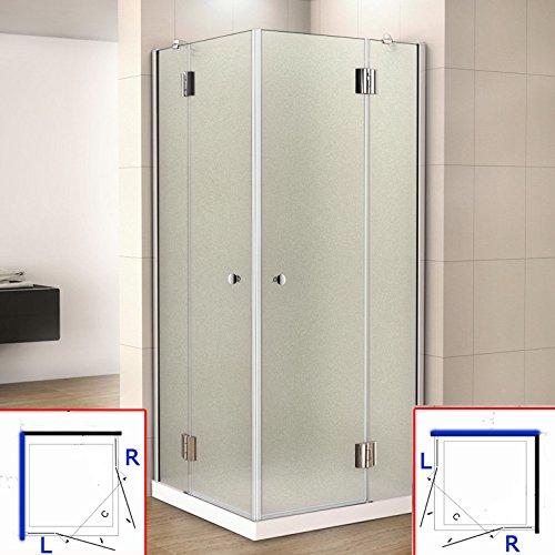 80 x 80 x 190 cm mampara de ducha de bisagra acceso de ángulo, 8 mm vidrio templado satinado, mampara de ducha giratoria: Amazon.es: Bricolaje y herramientas