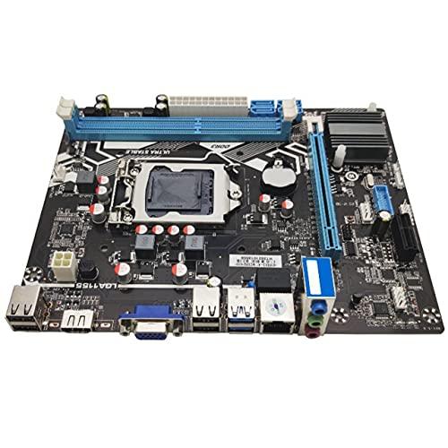 OKAYOU H61 Lga 1155マザーボード、ソリッドステートマザーボードサポートVga + Hdmiデュアル出力、コンピュータマザーボードサポートDdr3メモリ4 Usb2.0
