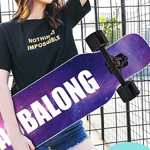Demeras Skate Wheel Riser Pad Skateboard Truck Combo Set Ruote Skateboard Kit Telaio per Pattini Longboard per Big Cruiser(Black Wheel)