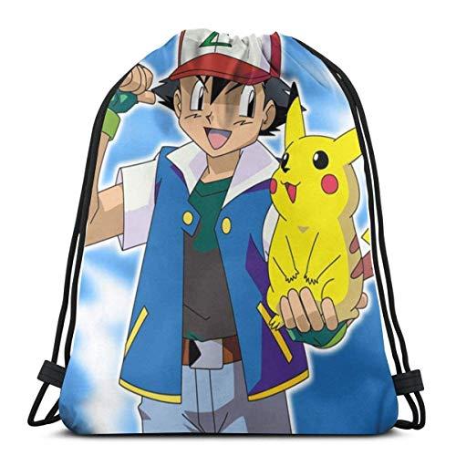 QUEMIN Pi-Ka.ChuUnisex Outdoor Rucksack Umhängetasche Travel Drawstring Backpack Bag 14,2 x 16,9 Zoll / 36 x 43 cm
