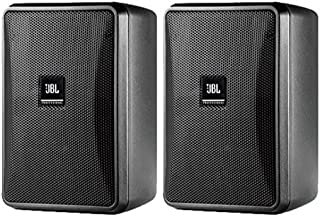 JBL Control 23-1 3 Inches Ultra-Compact Indoor Outdoor Speakers - Black, Pair
