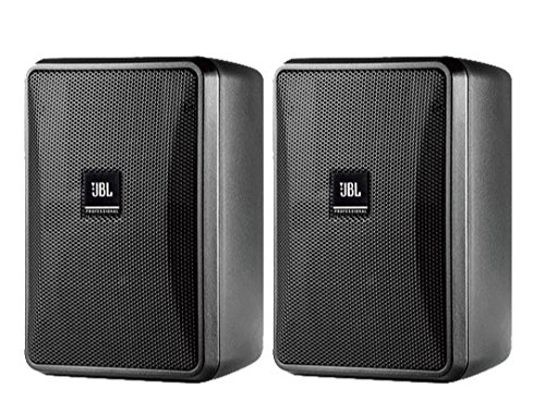 JBL Professional Control 23-1 Ultra-Compact Indoor/Outdoor Background/Foreground Speaker, Black, Sold as Pair
