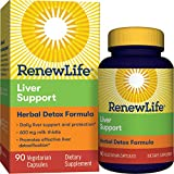 Renew Life® Adult Cleanse - Liver Support - Herbal Detox Formula - 600mg of Milk Thistle, Gluten & Dairy Free - 90 Vegetarian Capsules (Package May Vary)