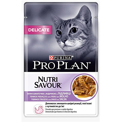 Purina ProPlan Delicate en Salsa Comida para Gato Adulto Pavo 24 x 85 g ✅