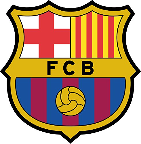 Wall Tattoo Sticker Football FC Barcelona, 30x30cm by StickersNews
