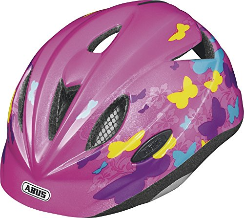 ABUS Kinder Fahrradhelm Rookie, butterfly pink, S