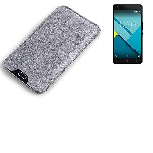 K-S-Trade® Para BQ Aquaris M5.5 Estuche Protecto Case para Móvil Fieltro Sintió Funda De Manga Cubierta Protectora Bolsa De Protección del Teléfono Móvil Gris para BQ Aquaris M5.5