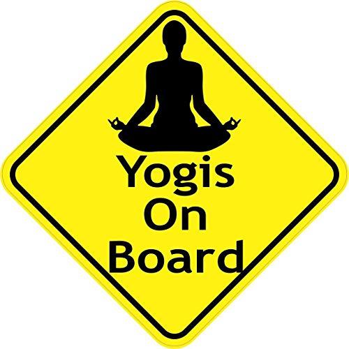 by Unbranded Pegatinas de yoga a bordo de 12,7 x 12,7 cm, para parachoques de coche, motocicleta, camión, ventana, pegatinas divertidas, para jardín