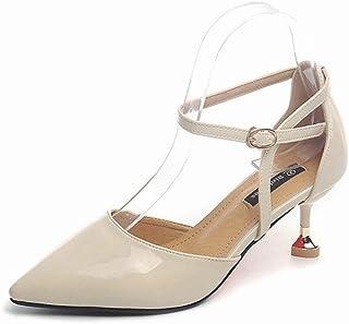 [ストア] パンプス レディース 春夏秋 通勤 通学 足綺麗 少女 ワイルド 美脚 ハイヒールポインテッドシューズ 靴 シューズ 安定して歩きやすい 美脚 女の子 フォーマル ヒール6cm 高級感 痛くない