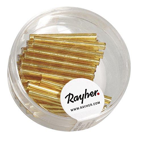 Rayher 1404706 glazen potloden, 2,5 cm, doos 11 g, goud