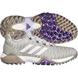 adidas Women's W CODECHAOS Golf Shoe, Metal Grey/Crystal Whte/Glory Purple, 5 Medium US