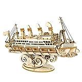 MOEGEN 3D Puzzles de Madera Modelos de Barco, Kit de Construcción de Modelos Crucero para Niños y Adultos