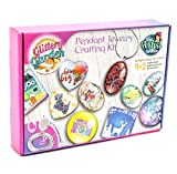 Girls Jewelry Making Kit. DIY Necklace Pendant and Bracelet Crafting Set with Glass