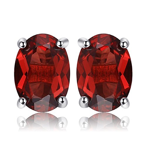JewelryPalace Pendientes 2ct Genuino Granate...