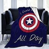 Yesbddfbc Captain-America Flannel Fleece Blanket, Ultra Soft Warmthrow Lightweight Microfleece Blanket for Home Sofa Bed 50'X40'