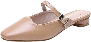 [Top Homie] レディース ローヒール サンダル かわいい ストラップシューズ ミュール 軽量 履きやすい 女性 カジュアル デート お呼ばれ 春夏 快適 美脚 靴